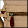 BACKSIDE POCKET FOR VALUABLE ITEMS